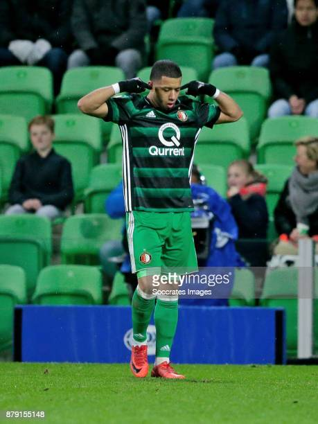 Tonny Vilhena of Feyenoord celebrates 01 during the Dutch Eredivisie match between FC Groningen v Feyenoord at the NoordLease Stadium on November 25...
