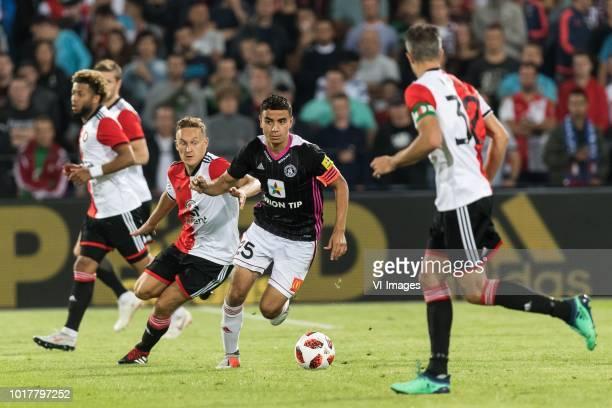Tonny Vilhena of Feyenoord Jens Toornstra of Feyenoord Achraf El Mahdioui of AS Trencin Robin van Persie of Feyenoord during the UEFA Europa League...