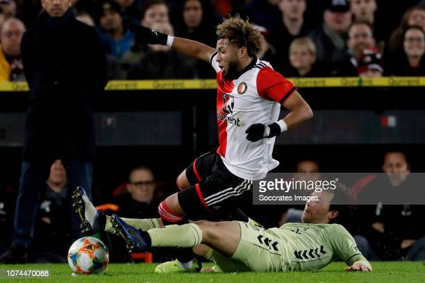 Tonny Vilhena of Feyenoord Joris van Overeem of FC Utrecht during the Dutch KNVB Beker match between Feyenoord v FC Utrecht at the Stadium Feijenoord...