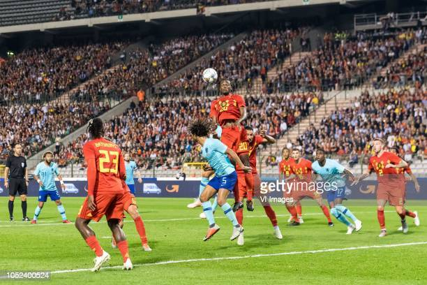 Tonny Vilhena of Holland Michy Batshuayi of Belgium Axel Witsel of Belgium Daley Blind of Holland Nathan Ake of Holland Dedryck Boyata of Belgium...