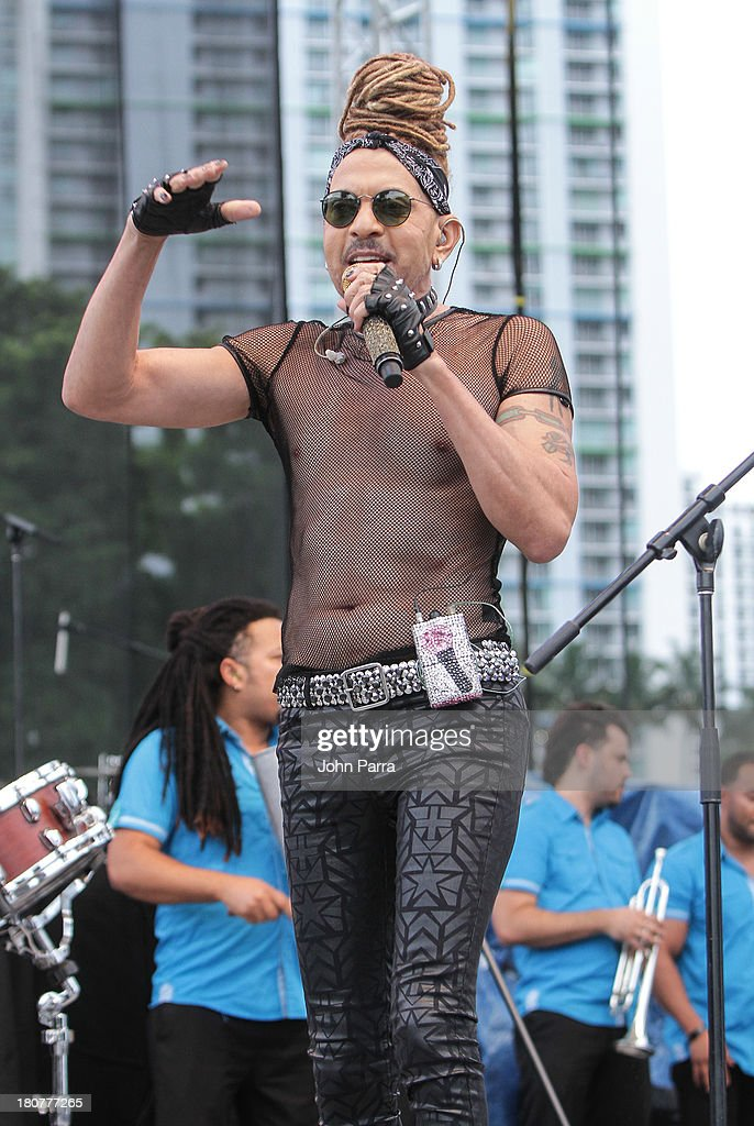 Tono Rosario performs at Zolazo concert at Bayfront Park Amphitheater on September 15, 2013 in Miami, Florida.