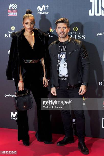 Tono Sanchis and Amal Fashanu attend 'La Liga de La Justicia' premiere at the Kinepolis cinema on November 14 2017 in Madrid Spain