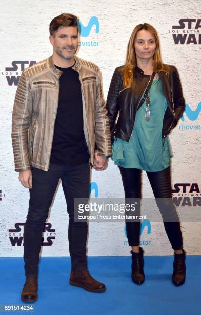 Tono Sanchis and Lorena Romero attend the 'Star Wars Los Ultimos Jedi' Madrid Premiere at Kinepolis Cinema at Kinepolis Cinema on December 12 2017 in...