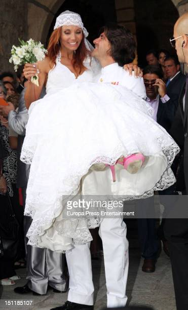 Tono Sanchis and Lorena Romero's wedding in Cercedilla on September 1 2012 in Madrid Spain