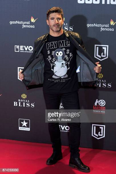 Tono Sanchis attends 'La Liga de La Justicia' premiere at the Kinepolis cinema on November 14 2017 in Madrid Spain
