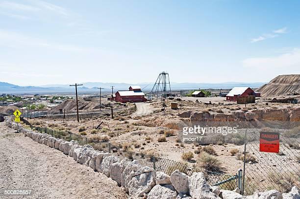 tonopah historic mining site - tonopah,_nevada stock pictures, royalty-free photos & images