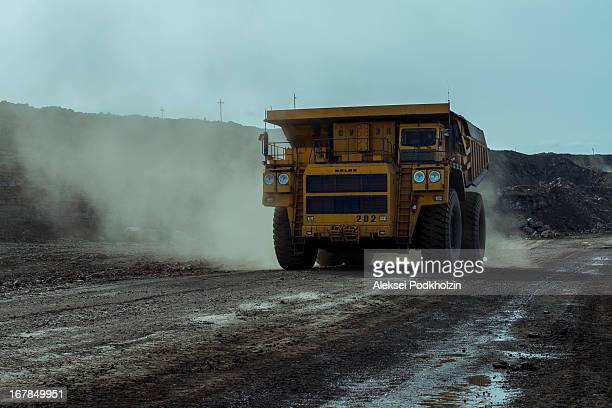 CONTENT] 220 tons BelAZ haul dump truck works on Chernogorsky openpit mine in the Republic of Khakassia of the Russian Federation