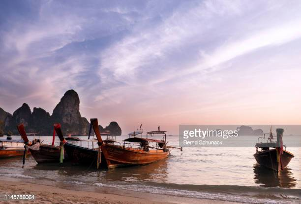 tonsai beach sunset - bernd schunack stock pictures, royalty-free photos & images
