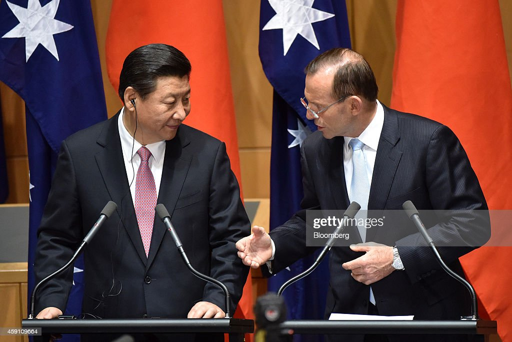 Chinese President Xi Jinping And Australian Prime Minister Tony