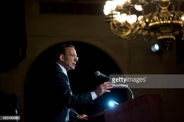 Tony Abbott Australia's prime minister speaks during an event at the US Chamber of Commerce in Washington DC US on Thursday June 12 2014 Abbott...
