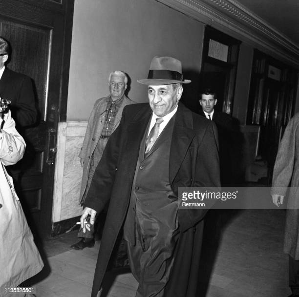Tony Accardo in corridor of the Federal Building after being found guilty of income tax evasion