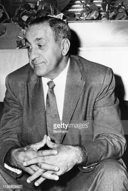 Tony Accardo is seated in US Courthouse waiting to testify at la labor racket probe in Chicago
