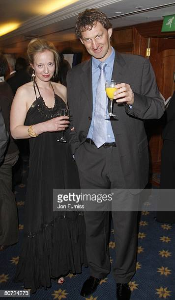 Tony Adams and Poppy Teacher attend HMV Football Extravaganza at The Park Lane Hilton on April 15 2008 in London England