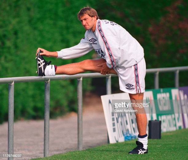 Tony Adams during England training for their first match in the FIFA World Cup in France 11th June 1998
