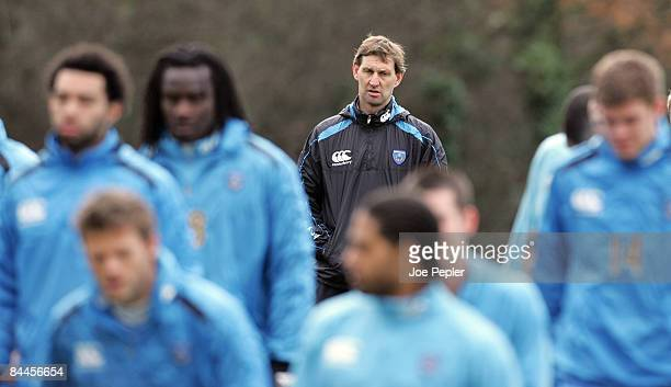 Tony Adams during Portsmouth FC training session at Eastleigh on January 26 2009 in Portsmouth England