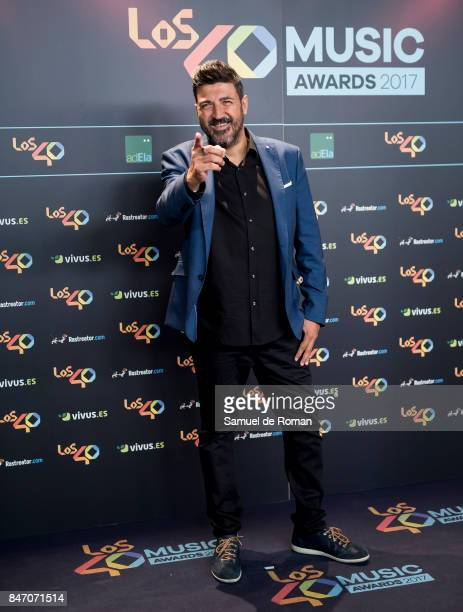 Tony Aguilar attends 40 Principales Awards candidates dinner 2017 on September 14 2017 in Madrid Spain