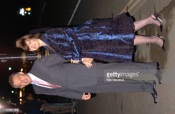 Tony and Cherie Blair during Margaret Thatcher 80th Birthday Arrivals at Mandarin Oriental in London Great Britain