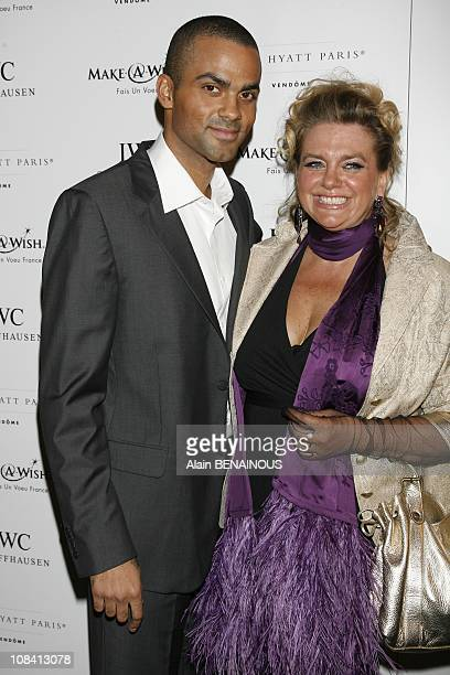 Tony and his mother Pamela Parker in Paris France on September 27 2007