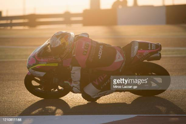 Tony Arbolino of Italy and Rivacold Snipers Team rounds the bend during the Moto2 & Moto3 GP Of Qatar - Free Practice at Losail Circuit on March 06,...