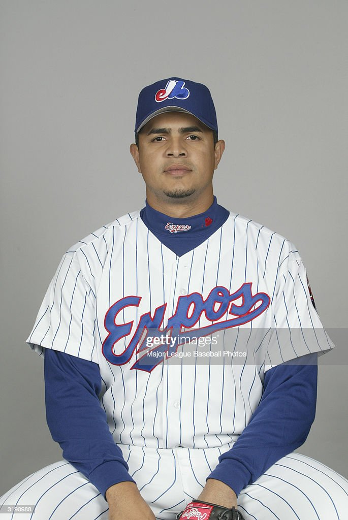 Tony Armas Jr. of the Montreal Expos on February 28, 2004 in Viera, Florida.