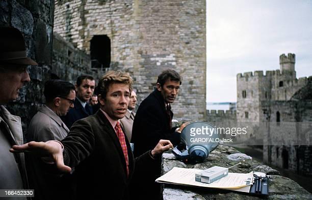 Tony Armstrong Jones, Lord Snowdon, At The Carnarvon Castle. Caernarfon, Pays de Galles - novembre 1968 - Au château Carnarvon, lors des répétitions...