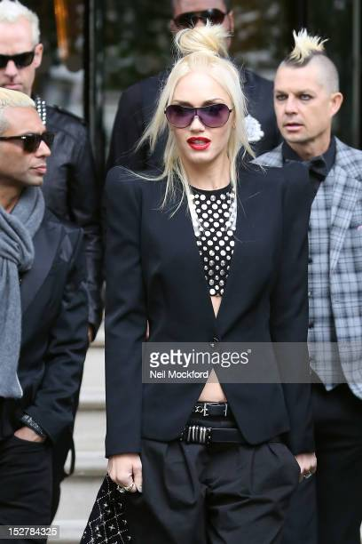 Tony Ashwin Gwen Stefani and Adrian Young from 'No Doubt' seen leaving their hotel on September 26 2012 in London England