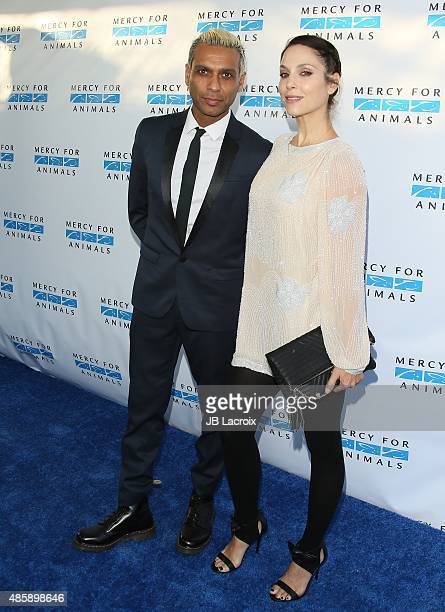 Tony Ashwin Kanal and Erin Lokitz attend The Hidden Heroes Gala presented by Mercy For Animals at Unici Casa on August 29 2015 in Culver City...