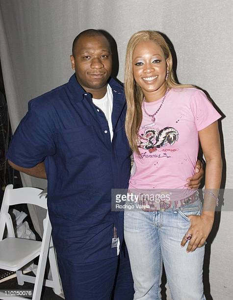 Tony Austin President of RSMG and Trina during Miami HipHop Summit on Financial Empowerment Presented by Chrysler Financial at Mansion in Miami Beach...