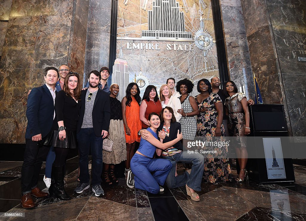 NY: 2016 Tony Nominees Light The Empire State Building In Honor Of The 70th Anniversary Of The Tony Awards