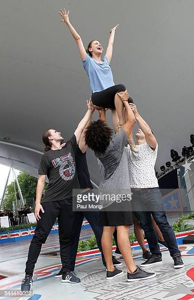 Tony Award winner and television star Sutton Foster performs during A Capitol Fourth Rehearsals at US Capitol West Lawn on July 3 2016 in Washington...
