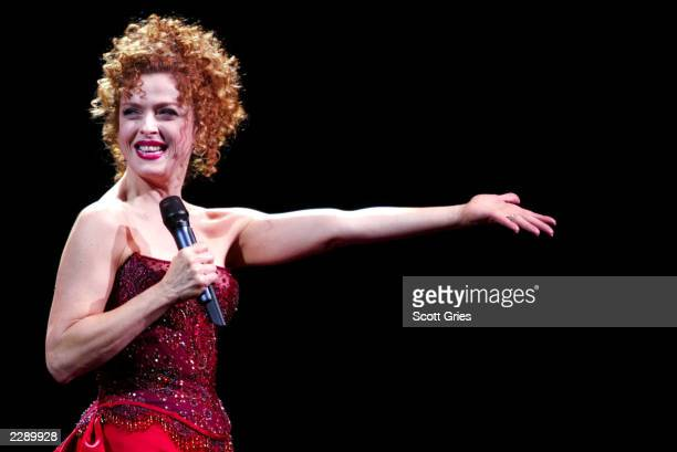 Tony Award winner Bernadette Peters performs at Radio City Music Hall in New York City 6/19/02 Photo by Scott Gries/Getty Images