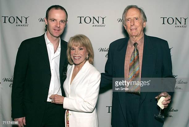 Tony Award Winner Brian F O'Byrne Sondra Gilman and Fritz Weaver pose at The Tonys Awards Honor Presenters And Nominees at Waldorf Astoria in New...