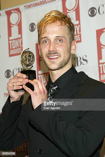 Tony Award winner Jeff Whitty poses at the 58th Annual Tony Awards at Radio City Music Hall on June 6 2004 in New York City The Tony Awards are...