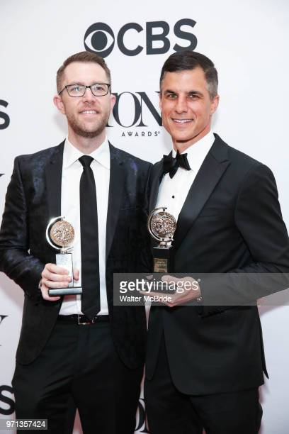 Tony Award winners Alex Wyse and Ken Davenport pose in the 72nd Annual Tony Awards Press Room at 3 West Club on June 10 2018 in New York City
