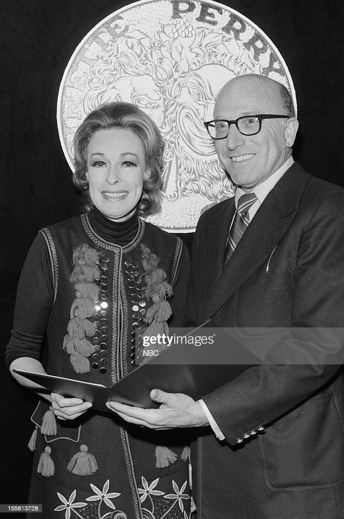 Tony Awards -- 'Nominee Reception' -- Pictured: Featured Actress in a Play nominee Eileen Heckart (left)during the nominee reception for the 24th Tony Awards in 1970 --