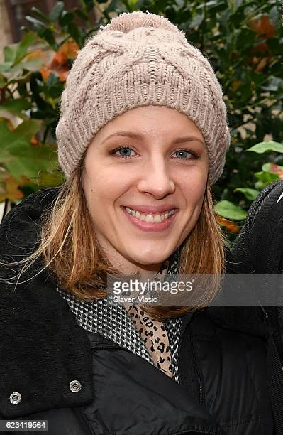 Tony Awardwinner Jessie Mueller attends honorary planting in The Adrienne Shelly Memorial Garden to commemorate the 10th anniversary of her passing...