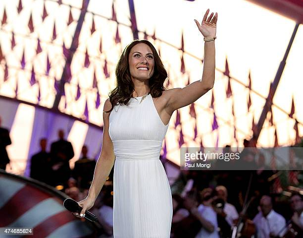 Tony awardwinning actress and singer Laura Benanti performs at the 26th National Memorial Day Concert on May 24 2015 in Washington DC