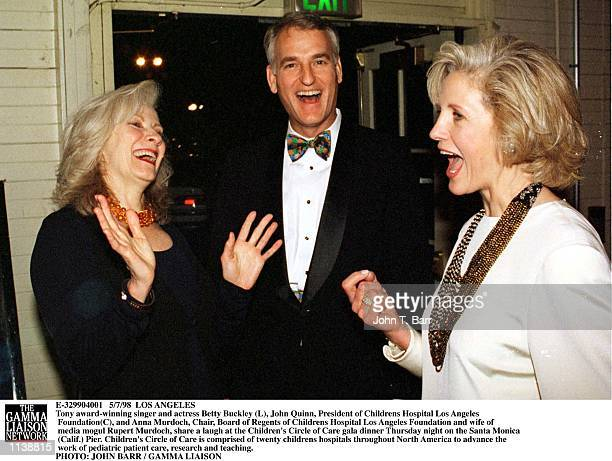 Tony awardwinning singer and actress Betty Buckley John Quinn President of Childrens Hospital Los Angeles Foundation and Anna Murdoch Chair Board of...