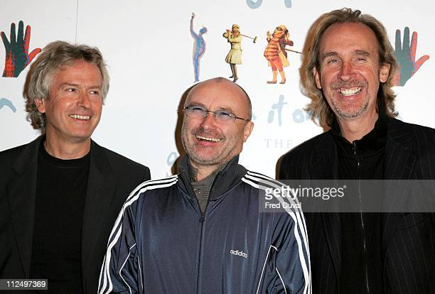 Tony Banks Phil Collins and Mike Rutherford of Genesis