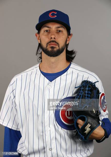 Tony Barnette poses for a portrait during Chicago Cubs photo day on February 20 2019 in Mesa Arizona