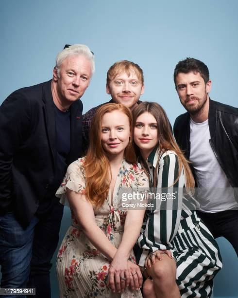 Tony Basgallop Lauren Ambrose Rupert Grint Nell Tiger Free and Toby Kebbell of Servant pose for a portrait during 2019 New York Comic Con at Jacob K...