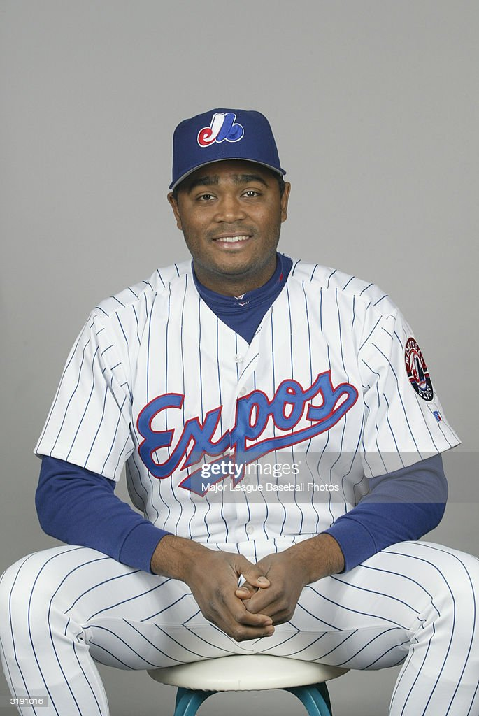 Tony Batista of the Montreal Expos on February 28, 2004 in Viera, Florida.