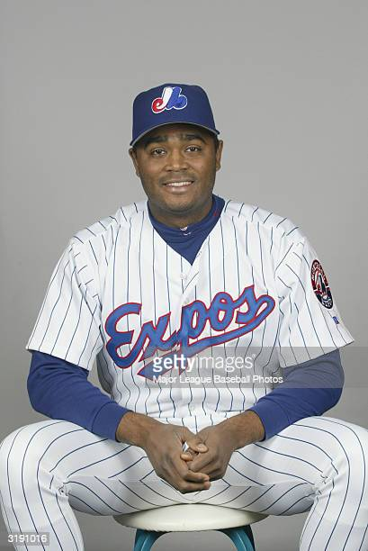 Tony Batista of the Montreal Expos on February 28 2004 in Viera Florida