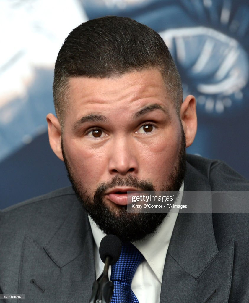 Tony Bellew during the press conference at Park Plaza Westminster Bridge, London. PRESS ASSOCIATION Photo. Picture date: Wednesday February 21, 2018. See PA story BOXING London. Photo credit should read: Kirsty O'Connor/PA Wire