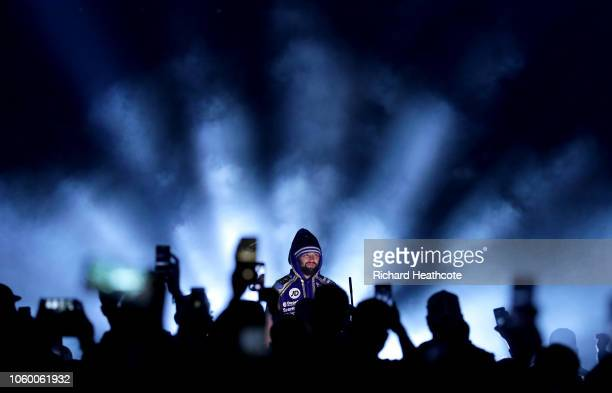 Tony Bellew of England walks to the ring prior to the WBC, WBA, WBO, IBF & Ring Magazine World Cruiserweight Title Fight between Oleksandr Usyk and...
