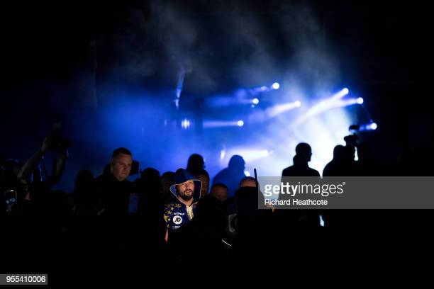 Tony Bellew walks to the ring prior to the Heavyweight contest between Tony Bellew and David Haye at The O2 Arena on May 5 2018 in London England at...