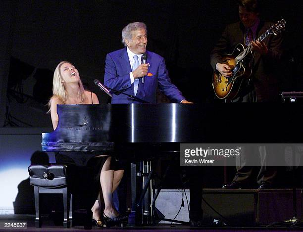 Tony Bennett and Diana Krall launch their 'Two for the Road' tour on friday Aug 4th at the Hollywood Bowl in Los Angeles Ca Photo by Kevin...