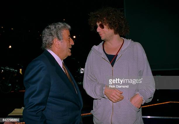 Tony Bennett and Don Was attend Elvis The Tribute at The Pyramid Arena in Memphis Tennessee October 08 1994