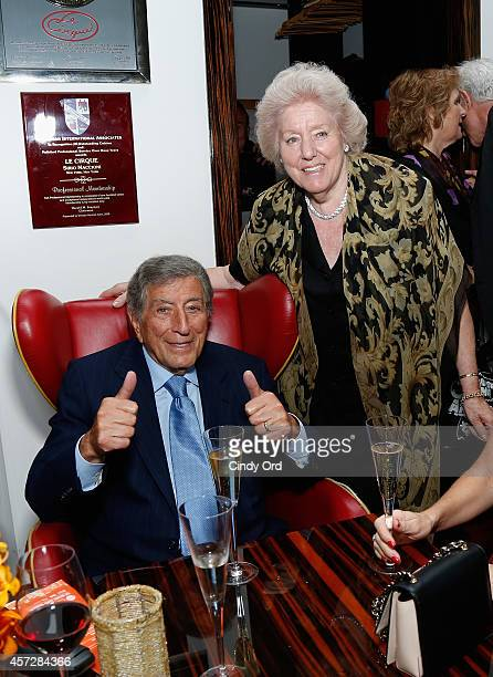 Tony Bennett and Egidiana Maccioni attend the Le Cirque 40th Anniversary Dinner Hosted by Sirio Maccioni during Food Network New York City Wine Food...