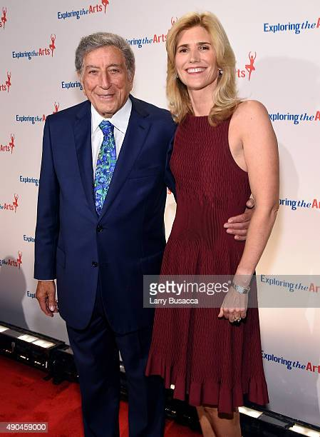 Tony Bennett and ETA CoFounder Board President Susan Benedetto attend the 9th Annual Exploring The Arts Gala at Cipriani 42nd Street on September 28...